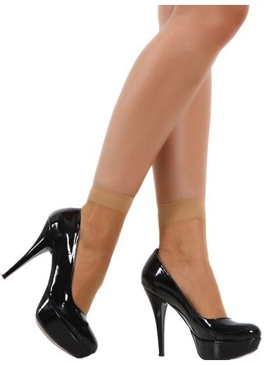 Pierre Cardin 5'Li Parlak Soket Çorap Ten